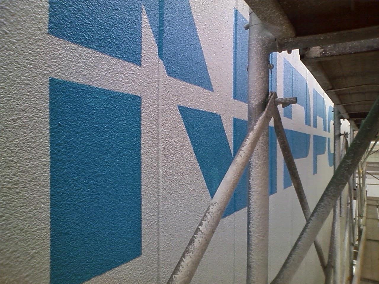 工場壁面の文字書きもできます