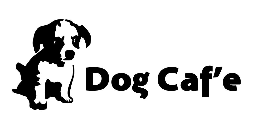 無料看板素材 Dog_Caf'e